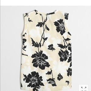 J.Crew printed pleated-front crepe top size 0